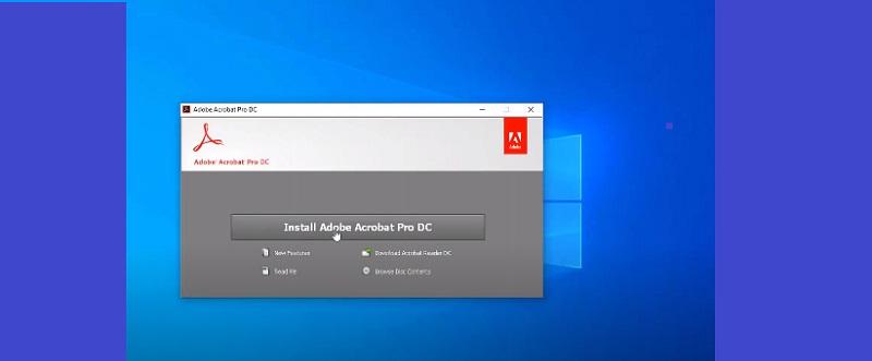 "Chọn ""Install Adobe Acrobat Pro DC"""