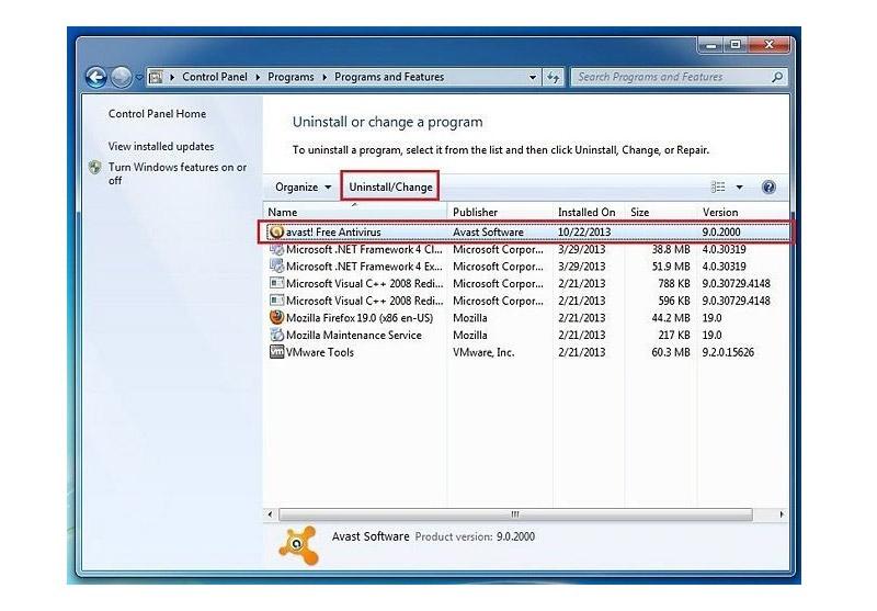 Chọn vào phần mềm và click chuột Uninstall