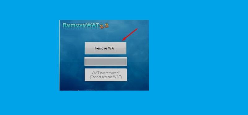Nhấn chọn RemoveWAT để tiến hành Crack Win 7