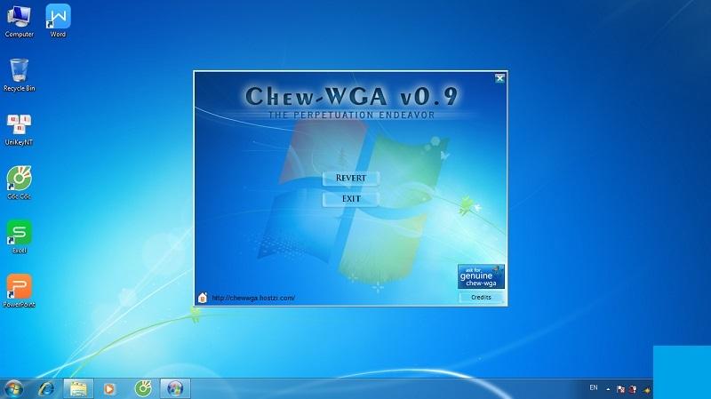 Phần mềm Crack Win 7 Chew – WGA v0.9