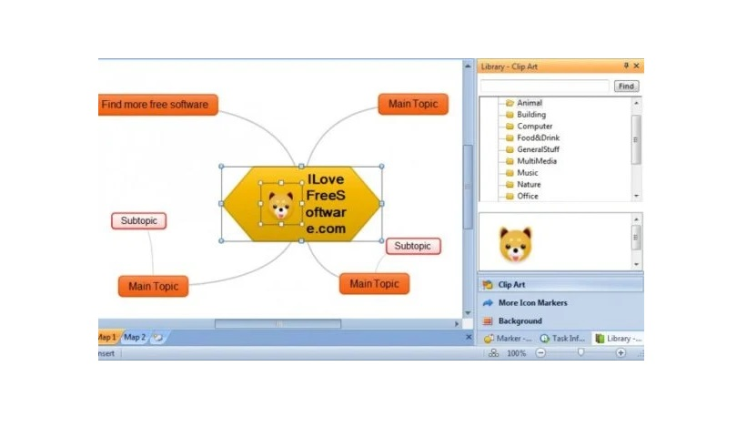 Phần mềm vẽ sơ đồ tư duy ThoughtStack