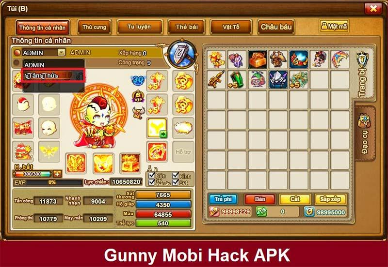bản hack gunny free cập nhật cho anh em