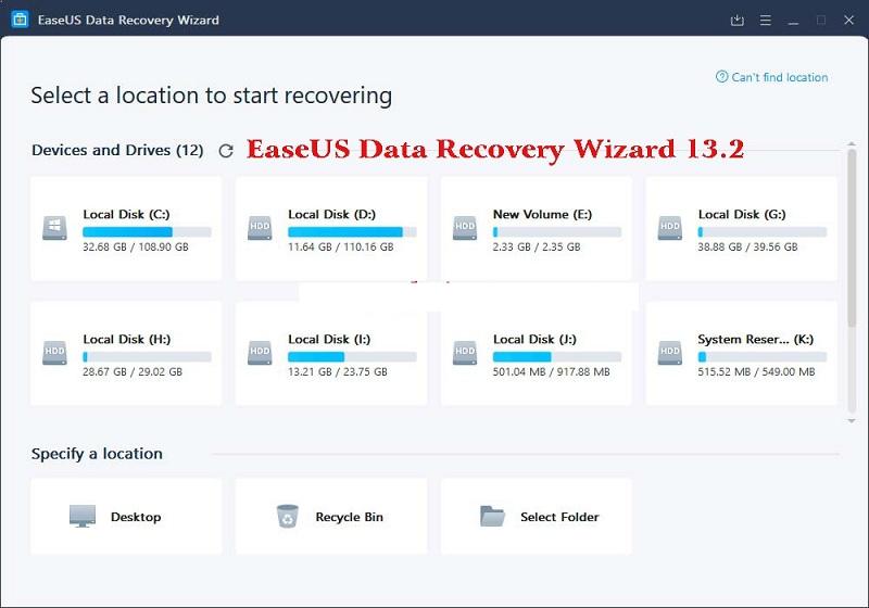 Bạn hãy tải phiên bản Easeus Data Recovery Wizard 13 full Crack