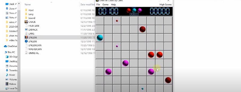 Giao diện chơi game line 98 trên máy tính