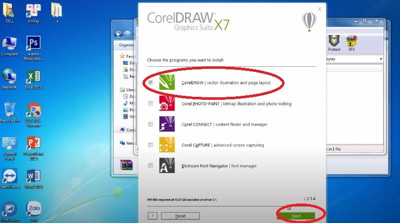 Tích chọn CorelDRAW