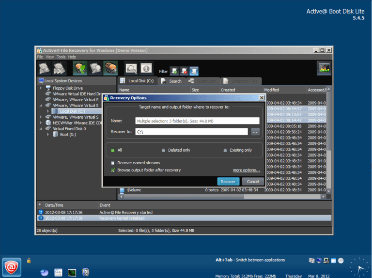 active partition recovery key-1