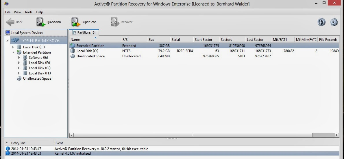 active partition recovery key-8