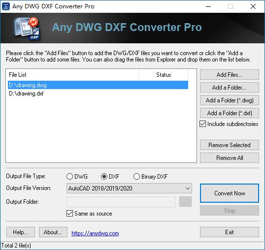 any dwg dxf converter pro-1