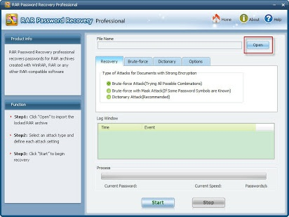 rar password recovery professional-5