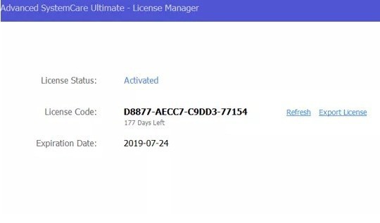 key advanced systemcare ultimate 12-0