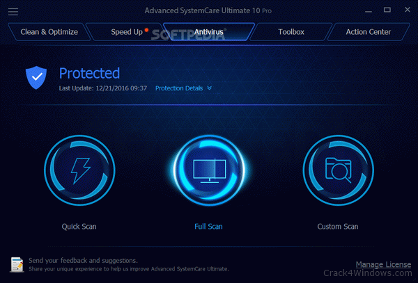 key advanced systemcare ultimate 12-8