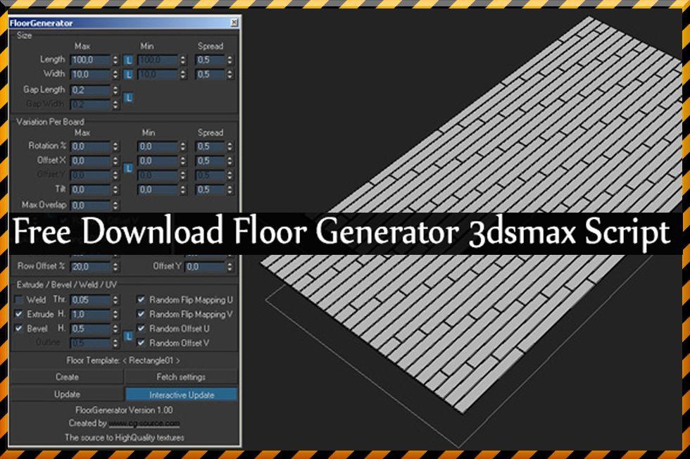 floor generator 3ds max 2018-9