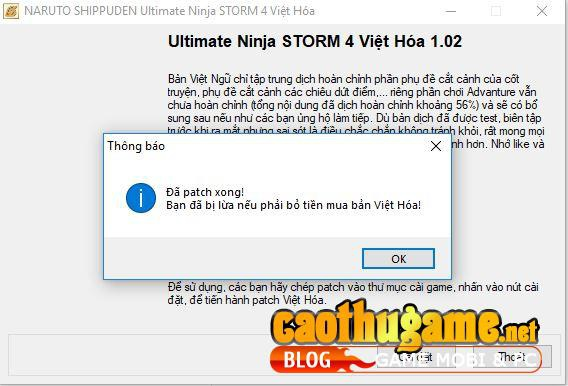 naruto shippuden ultimate ninja storm 4 viet hoa-9