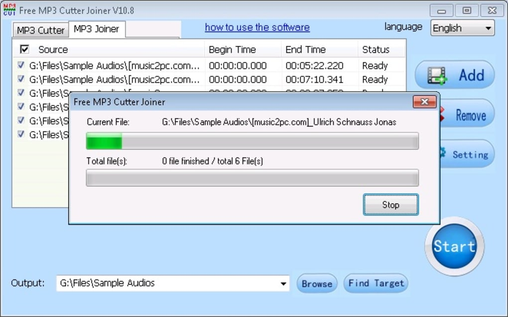 Download Phần mềm cắt ghép nhạc MP3 Cutter Joiner Full Crack