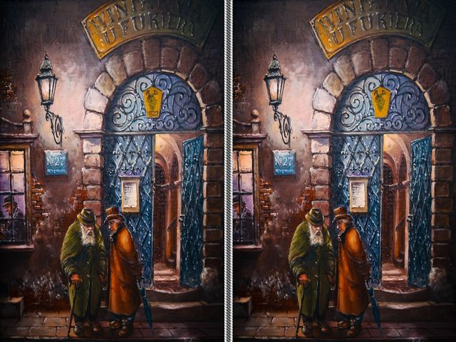 tìm điểm khác nhau giữa 2 bức tranh kinh dị 4
